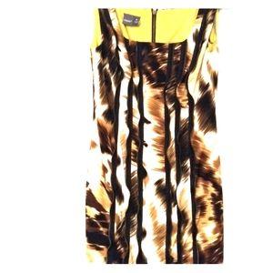 Zipper embellished wiggle dress